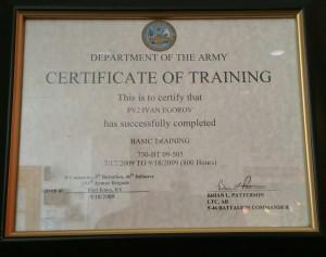 Ivan Certificate